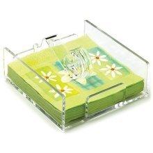 Epicurean Europe Ltd 19.5 x 18.5 x 6.5cm Acrylic Napkin Holder, Clear - Holder -  x epicurean napkin holder europe ltd 195 185 65 cm acrylic clear