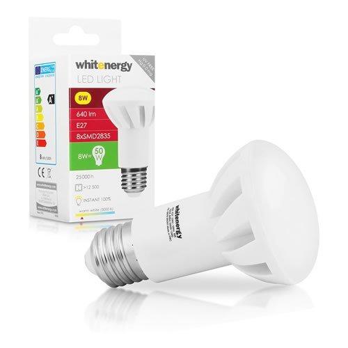 WHITENERGY LED Bulb  8x SMD 2835 LED  R63  E27  8W 230V  White Warm (10078)