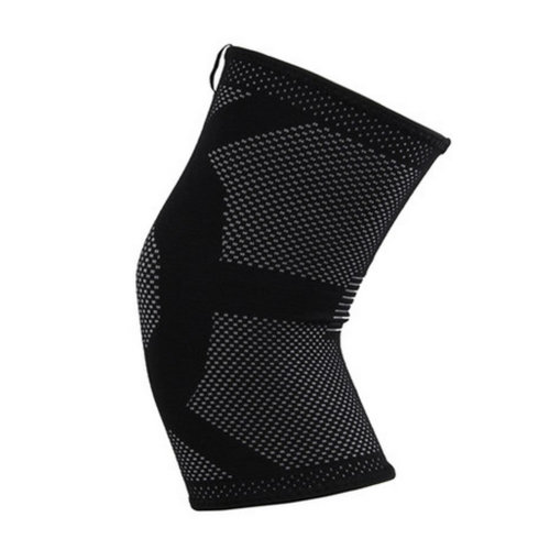 A Pair of Breathable Knee Support Sleeve Brace Pad for Sports - Black&Grey