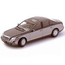 Maybach 57 Diecast Car Model 1/43 Himalayas Grey Dark/Himalayas Grey Bright Die Cast Car by Autoart
