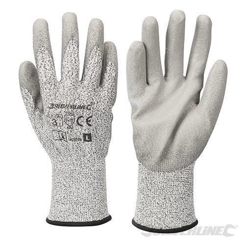 White Large Cut 3 Gloves