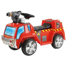 Toyrific Kids Electric Ride-On Fire Engine Car With Bubble Gun WB-TY5801