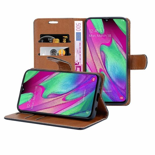 For Samsung Galaxy A40 Leather Wallet Case Cover