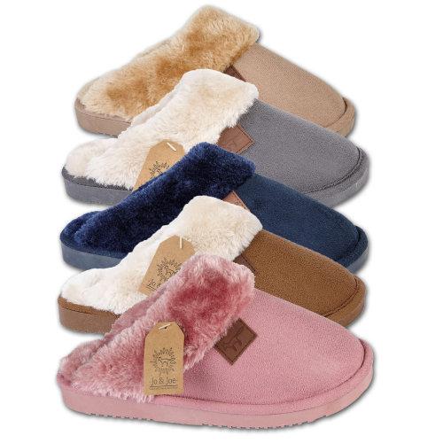 ladies Wicklow fur lined mule slipper