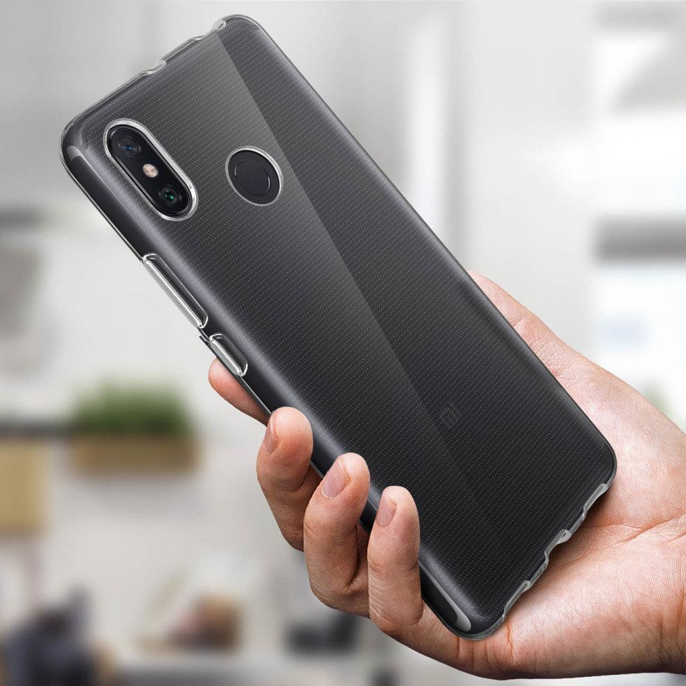 cheaper ff843 da3f9 Silicone case Glossy & matte back cover for Xiaomi Mi Max 3 - Ultra clear