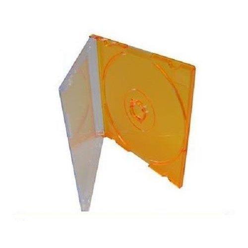 High Quality Orange 8CM Mini Disc Disk Jewel Case Plastic Storage