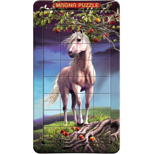 3d Magna Horse Portrait Magnetic Jigsaw Puzzle (32 Pieces)