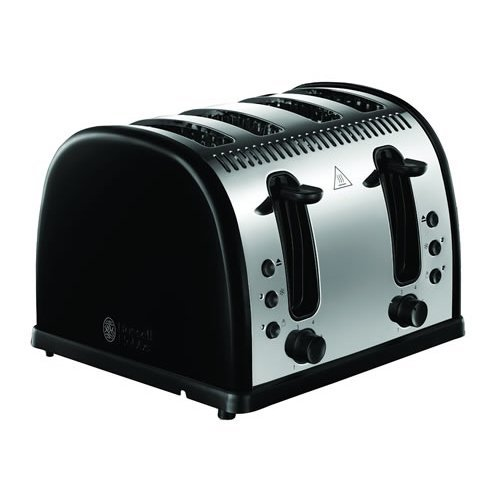 Russell Hobbs Legacy 4 Slice Toaster Fast Toasting - Black (Model No. 21303)