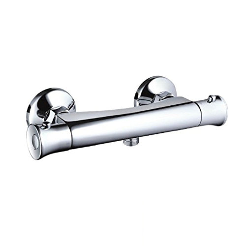 Round Thermostatic Shower Bar Valve with Bottom Outlet