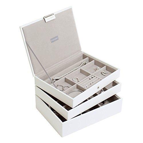 Stackers White Classic Jewellery Box - Set of 3