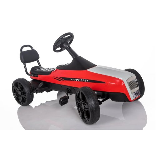 RideonToys4u Large Outdoor Pedal Go Kart With Manual Brake Lever Red Ages 5-12 Years