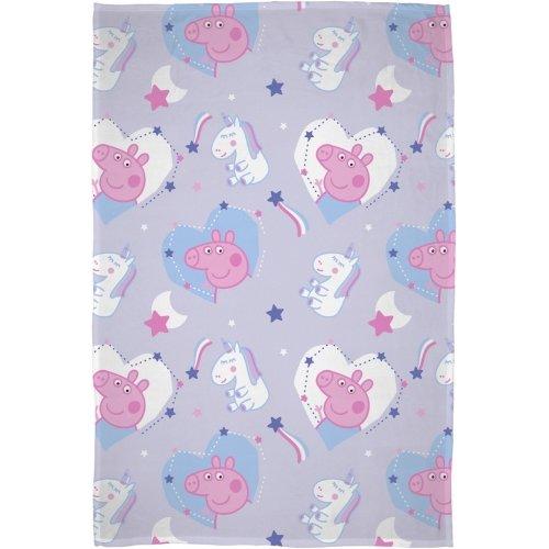 Peppa Pig Sleepy Character Flannel Fleece Blanket