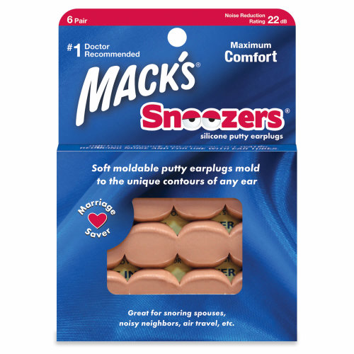 Mack's Snoozers Silicone Putty 22db 6 pairs Earplugs for Sleeping