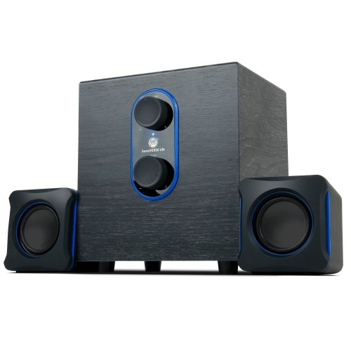 SonaVERSE LBR 2.1 USB 2.0 Stereo Speaker System for PC Computer Laptop with Powerful Bass Subwoofer and Dual Stereo Satellite Speakers by Gogroove...
