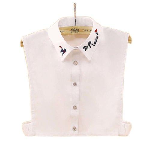 Elegant Women's Fake Half Shirt Blouse Collar Detachable Collar, #11