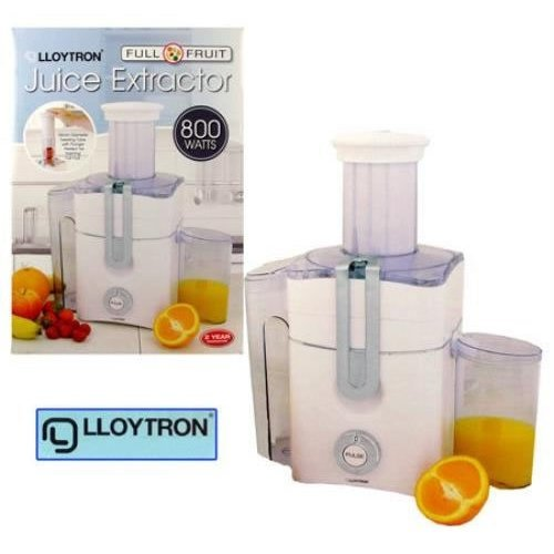 Lloytron Full Fruit Juice Extractor, 800 Watt, White (E5203WH)