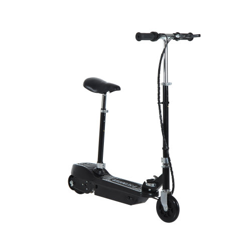 Homcom Electric E Scooter Ride on Battery Kids Children Toys 120W Motor 24V (Black)